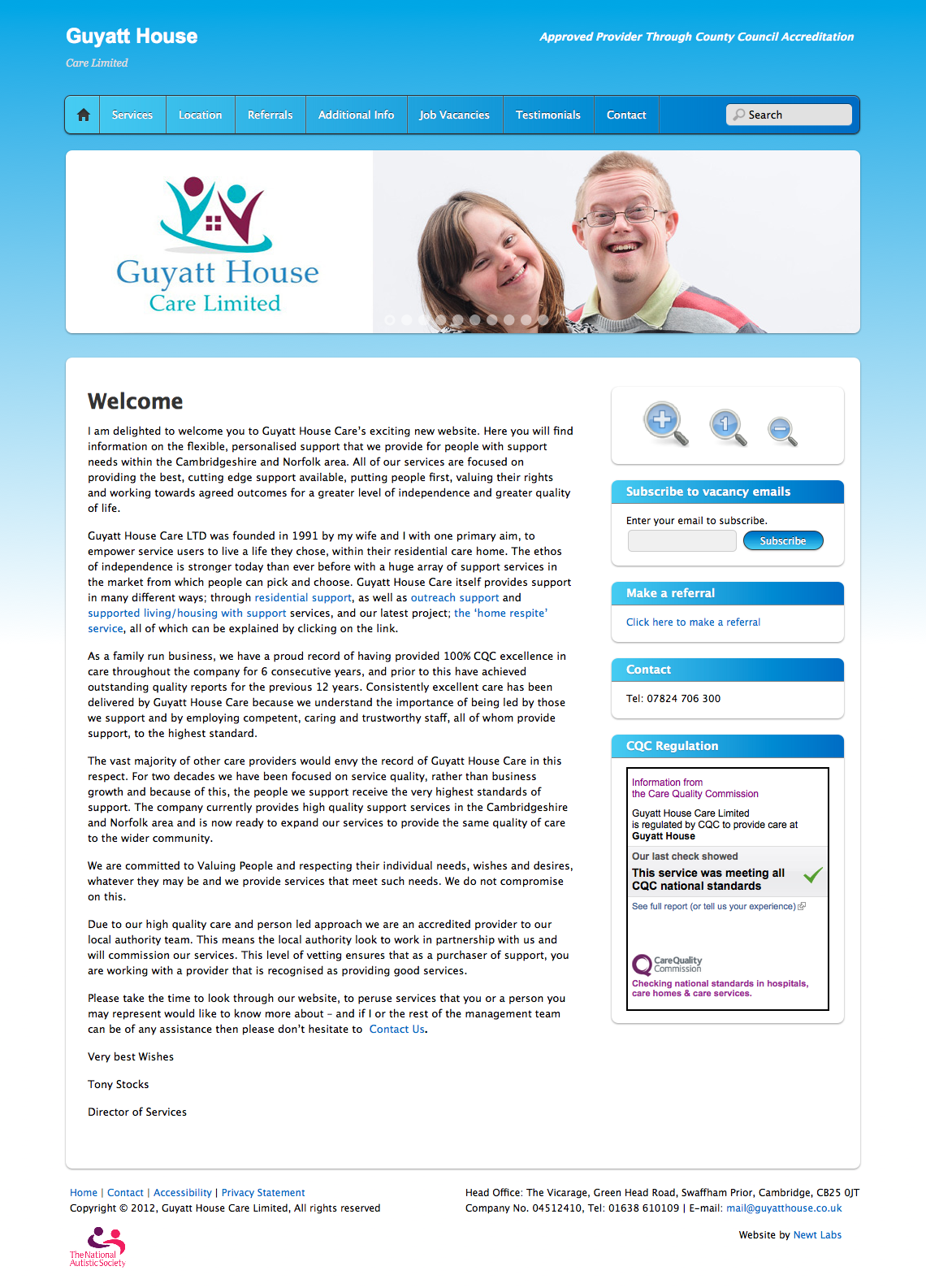 care home website design