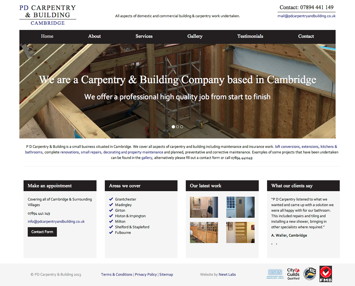 carpentry and builders website
