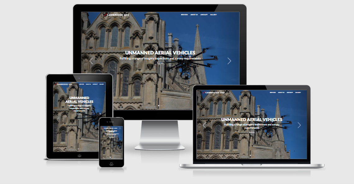 cambridge uav website design