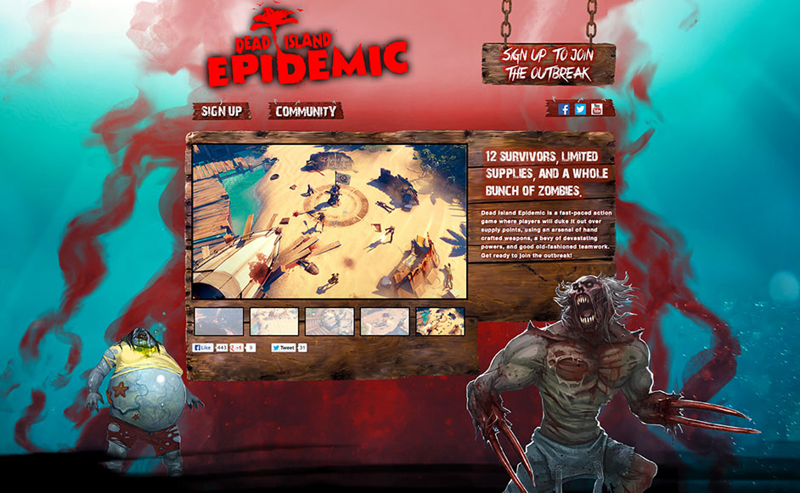 dead island epidemic web design