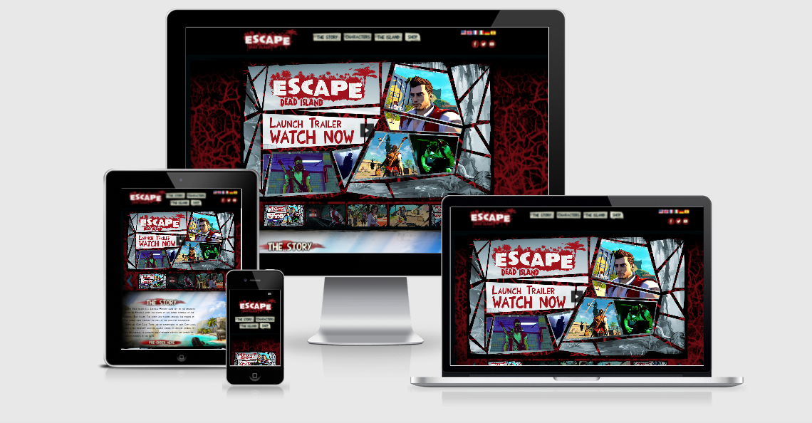 video game website design