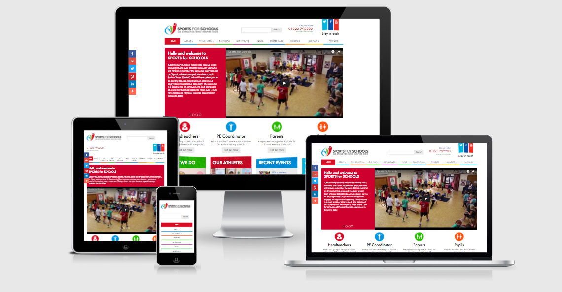 sports for schools website design