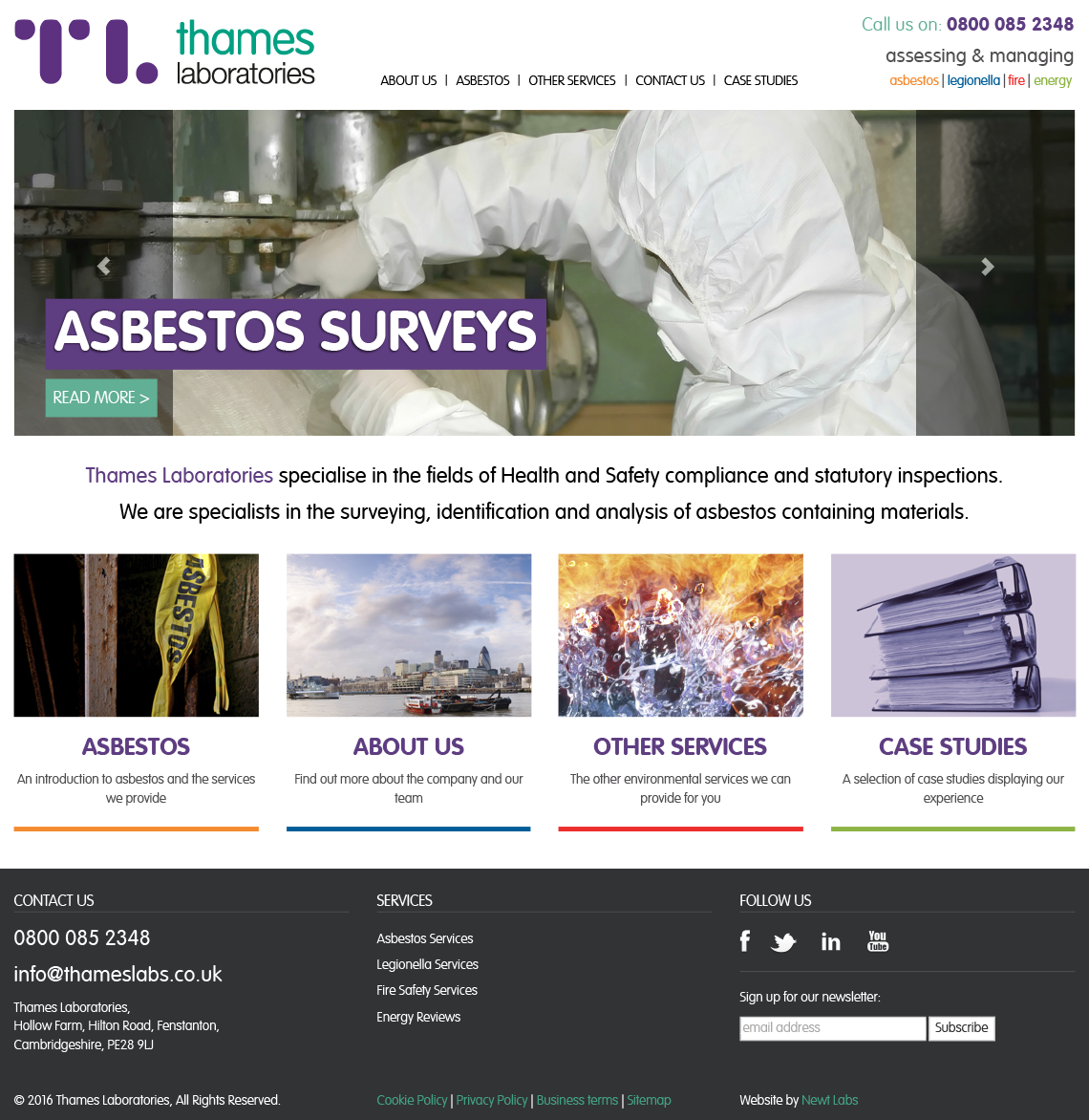 thames labs website design