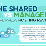 The Shared vs Managed WordPress Hosting Review (Infographic)