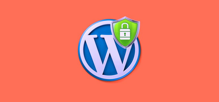 WordPress logo with security shield