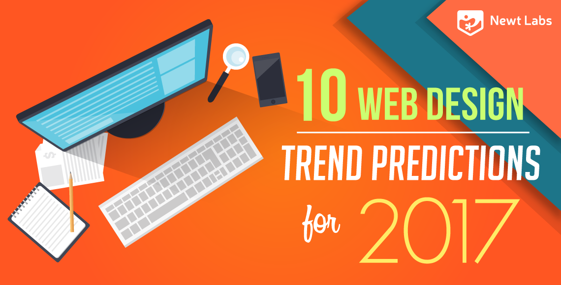 Web Design Trend Predictions for 2017 infographic teaser