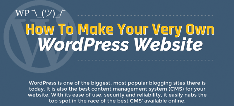 How to make your very own WordPress website