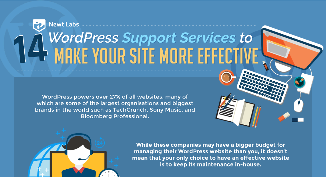 14 WordPress Support Services To Make Your Site More Effective Infographic Teaser