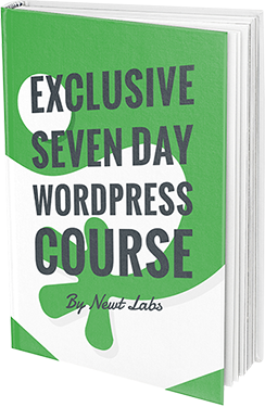 exclusive 7 day WordPress course by newt labs