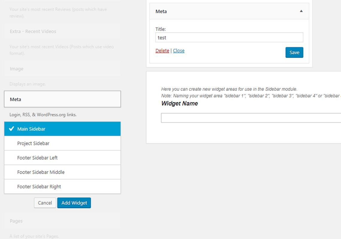 wordpress login widget
