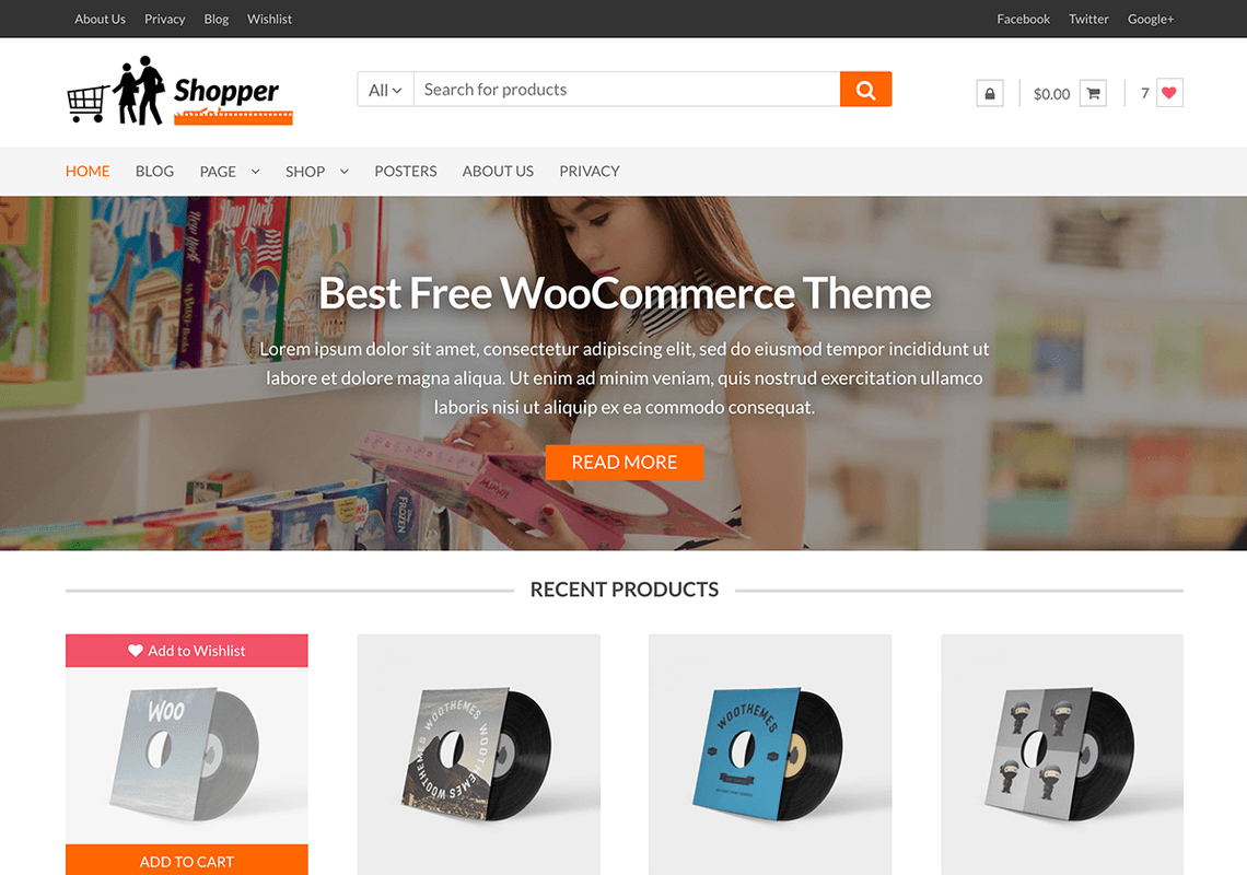 wordpress online store theme example