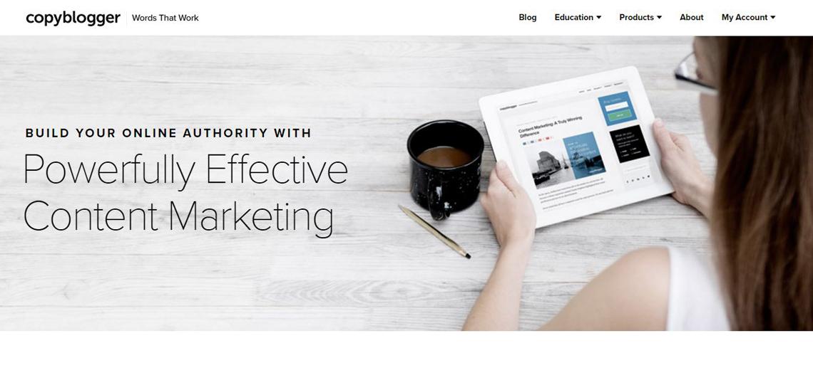 copy blogger website