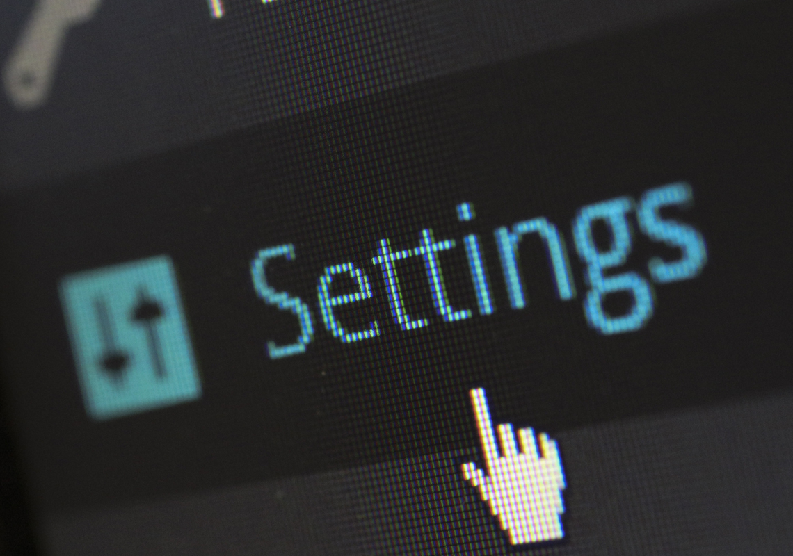 wordpress settings navigation link