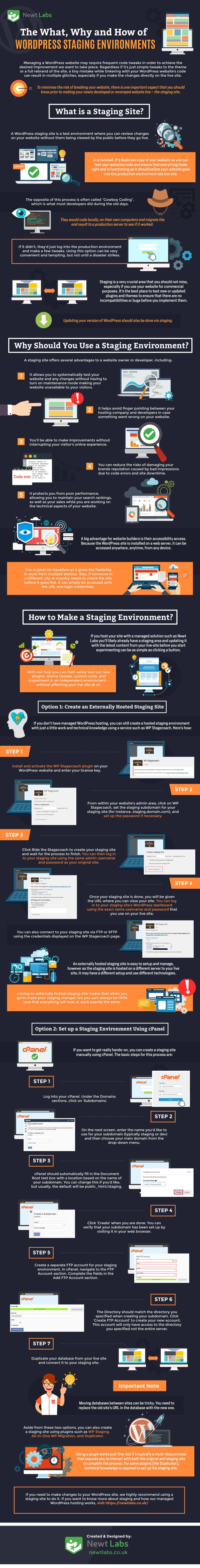 The What, Why and How of WordPress Staging Environments Infographic