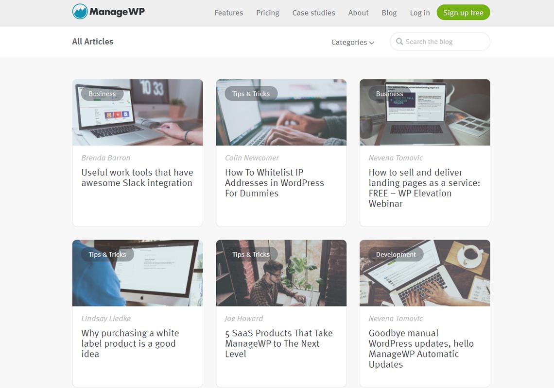 managewp website