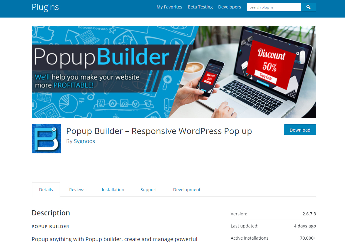 popup builder plugin