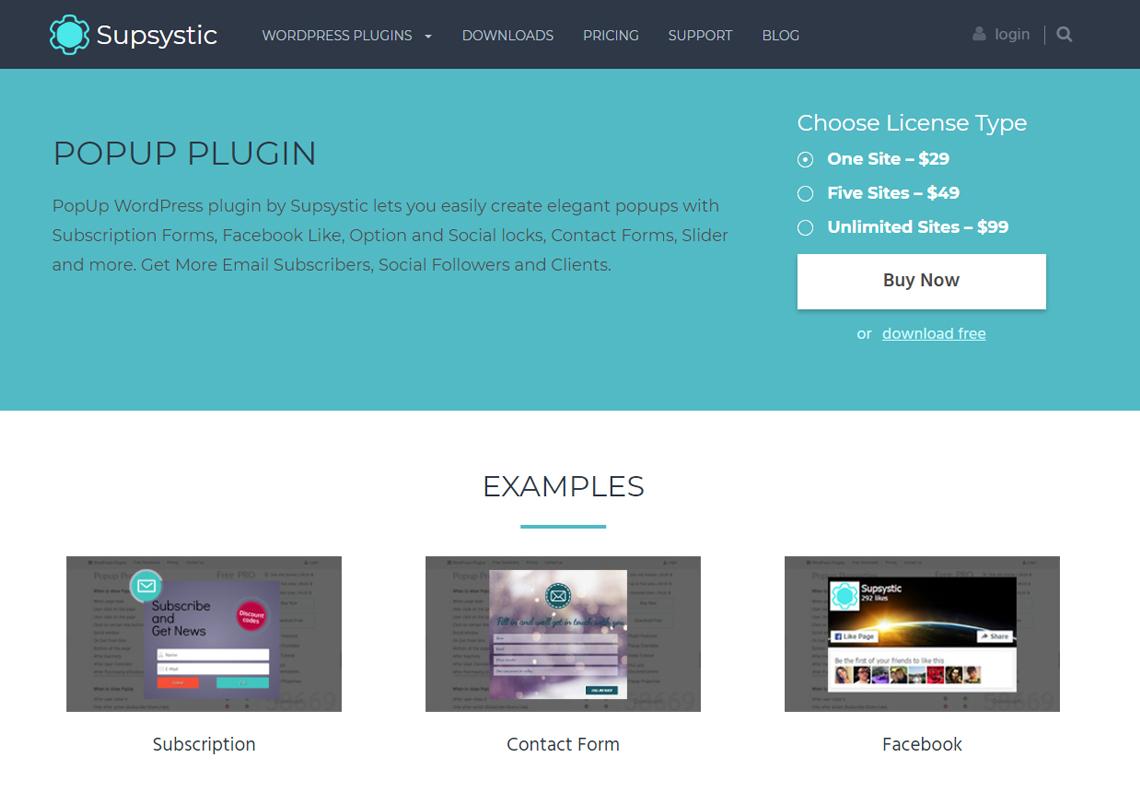 popup plugin