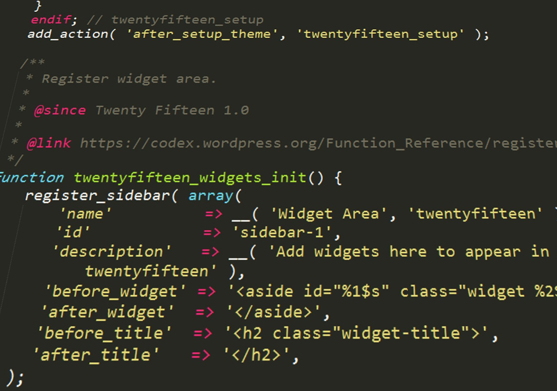 wordpress api code