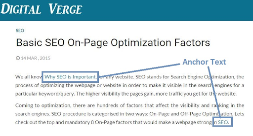 on page seo linking
