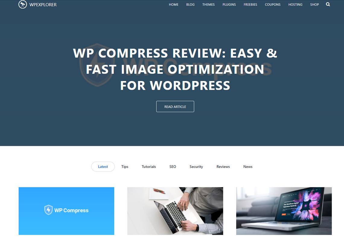 wordpress explorer