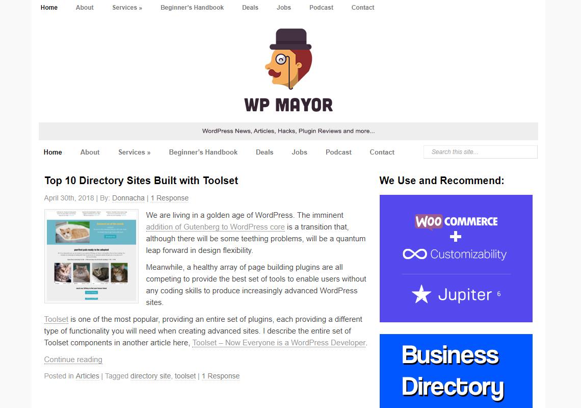 wordpress mayor