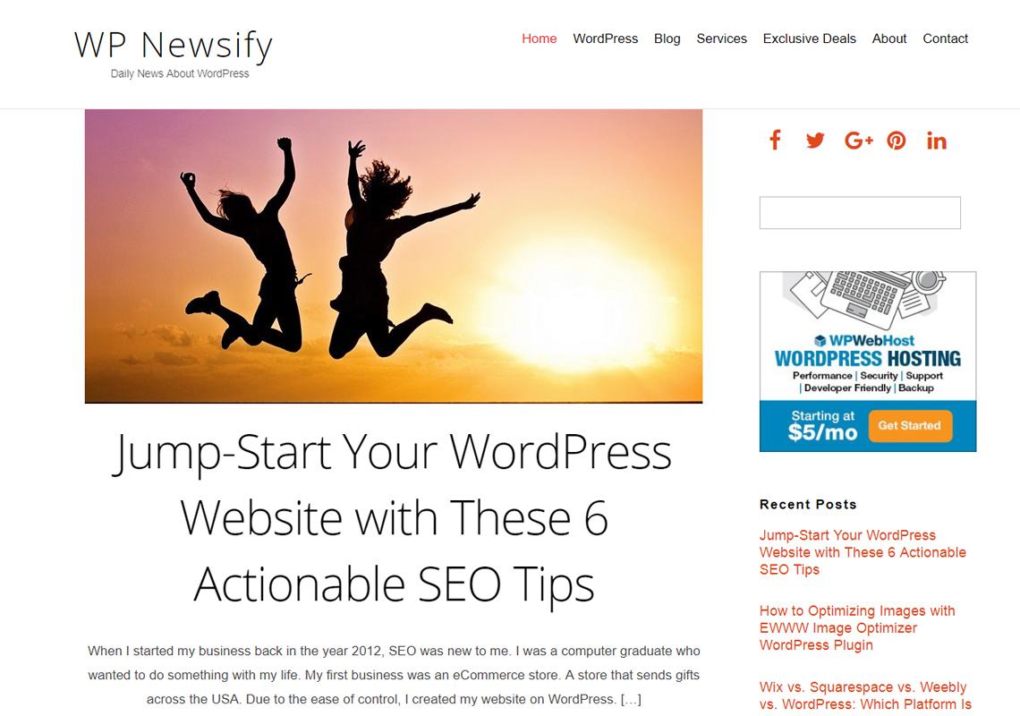wordpress newsify