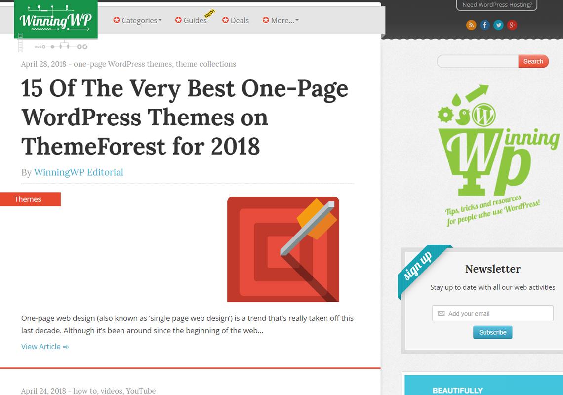 winning wordpress