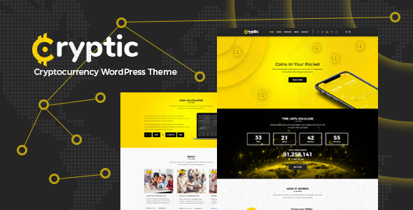 Cryptic wordpress theme