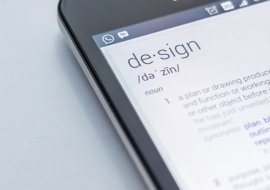 design explanation shown within a smartphone