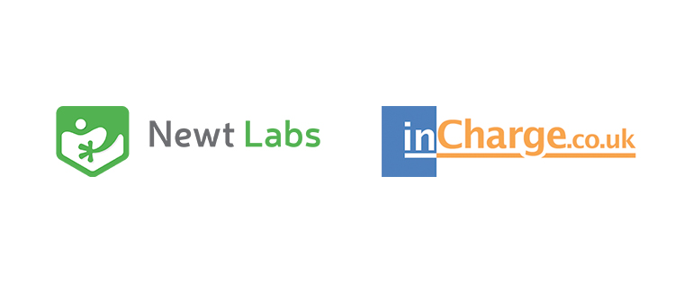 Newt Labs and incharge logos