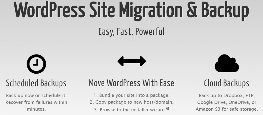 Duplicator plugin for wordpress