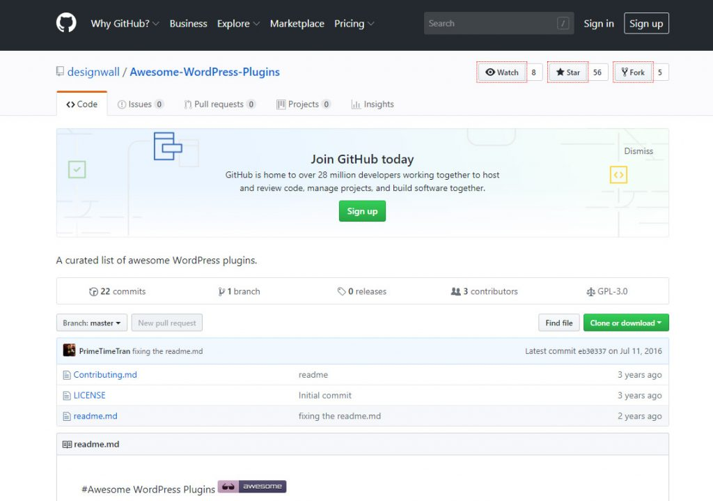 awesome wordpress plugins list on github