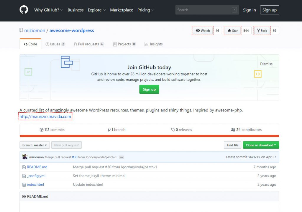 awesome wordpress on github