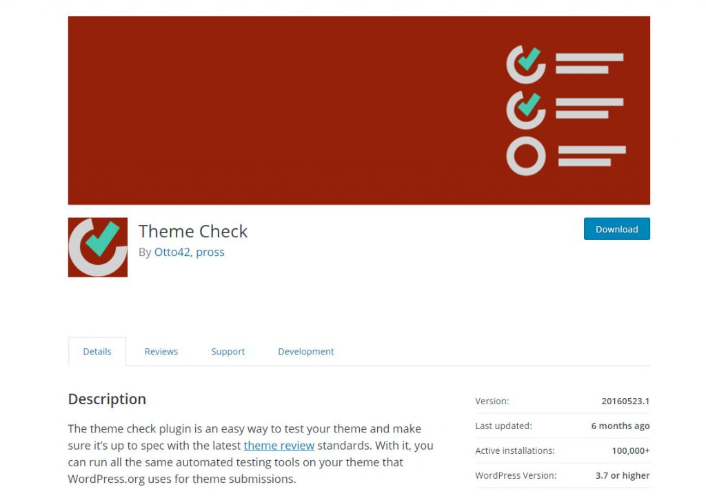 wordpress theme check