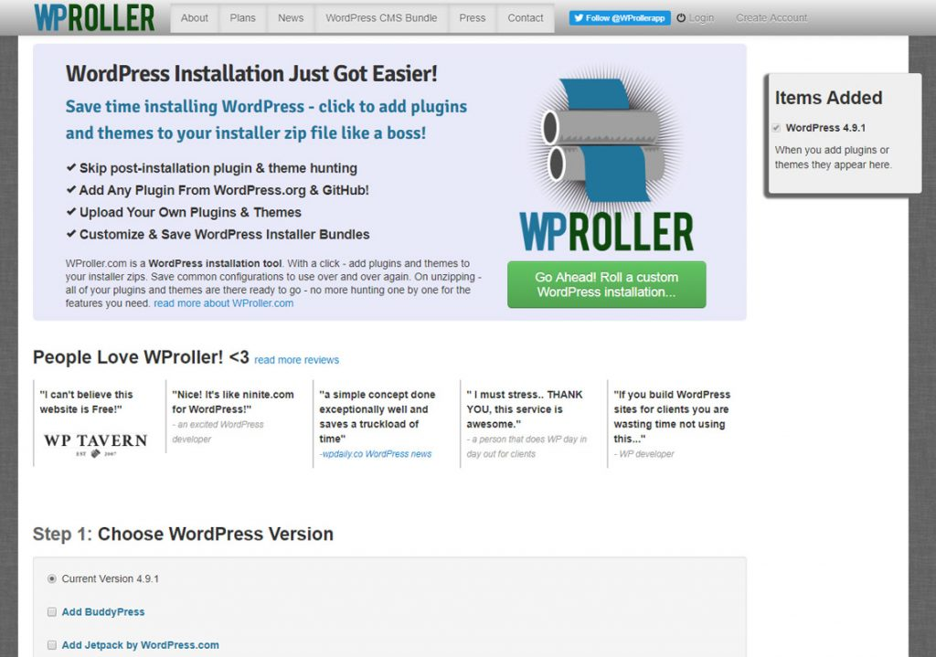 wordpress roller