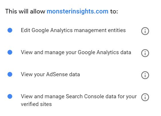 Allow MonsterInsights