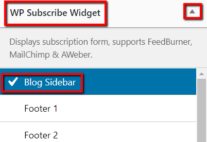 Blog Sidebar Widget