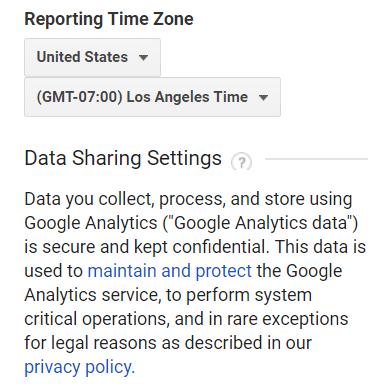 Google Analytics Timezone
