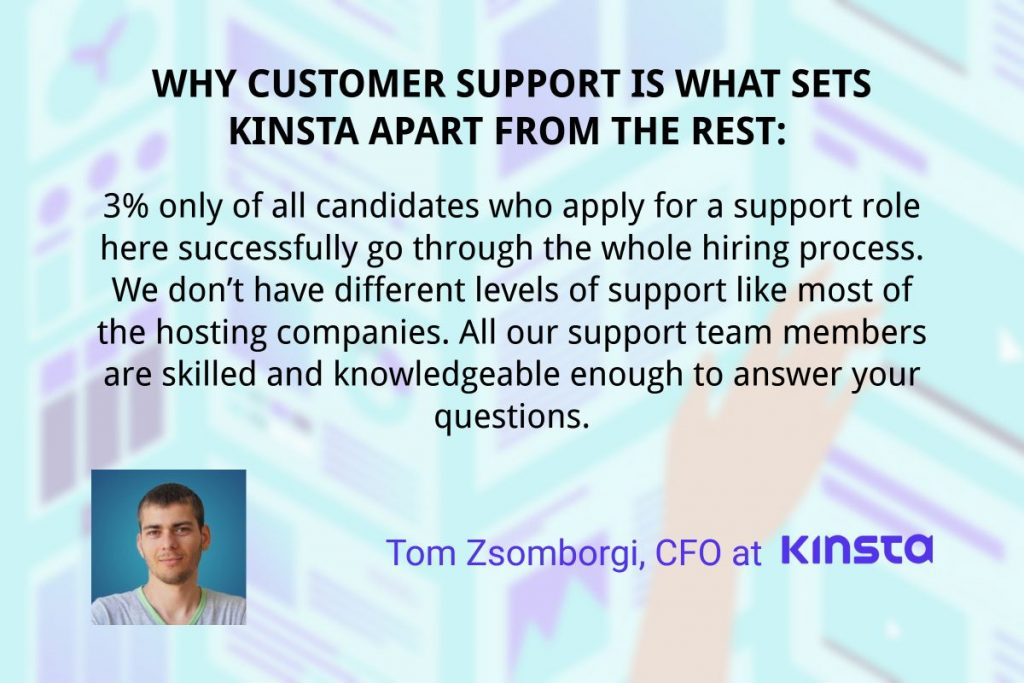 customer support kinsta quote