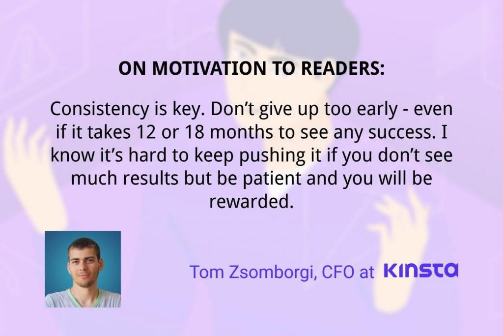 on motivation to readers by tom