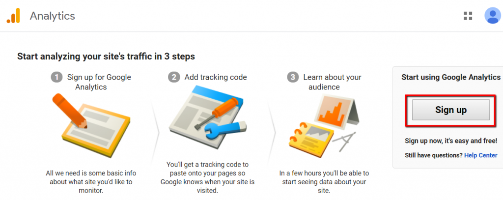 start analyzing your sites traffic n 3 steps