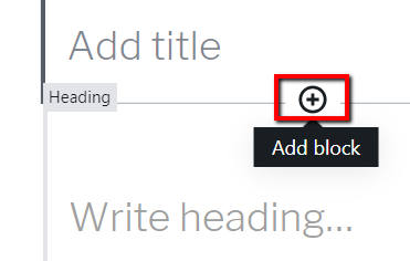 Add Block in Between