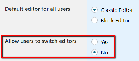 Allow User to Switch Editors