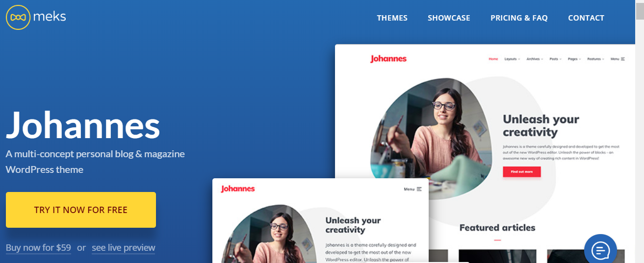 Johannes - WordPress Gutenberg Themes