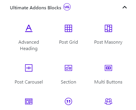 Ultimate Addons Blocks