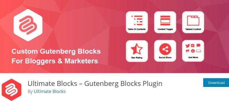 Ultimate Blocks - WordPress Gutenberg Plugins